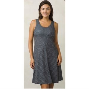 Prana Grey Amelie V Neck Tank Top Dress Lg